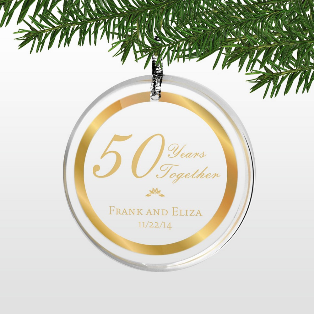 Unique Golden Wedding Anniversary Gifts: Personalized 50th Wedding Anniversary Round Acrylic