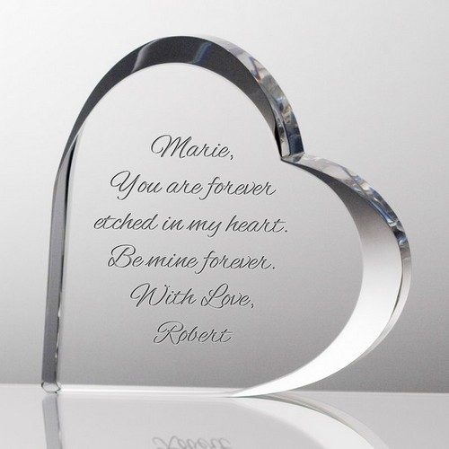 Special Heartwarming Personalized Crystal Heart