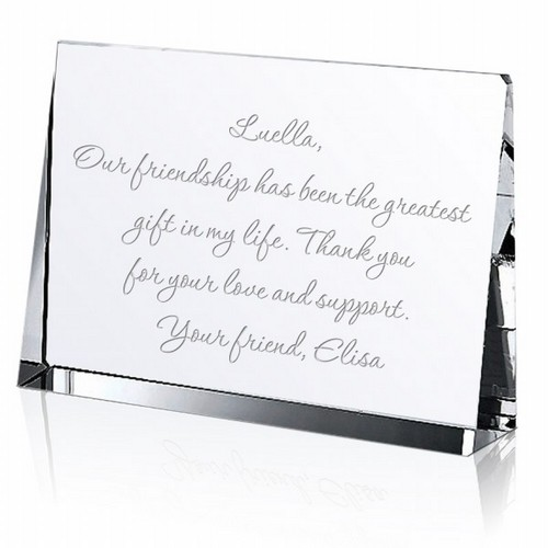 Crystal Keepsake Message Block