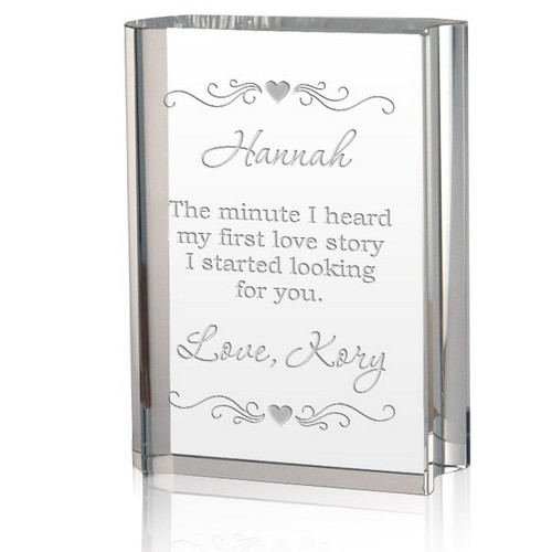 Love Story Crystal Book Keepsake