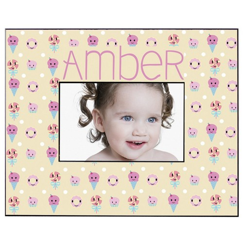 Candy and Sweets Pattern Personalized Picture Frame