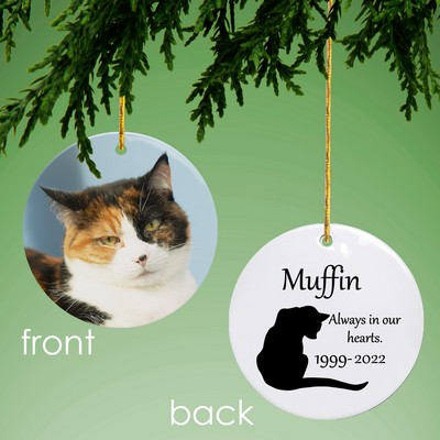 Cat Memorial Personalized Photo Ornament