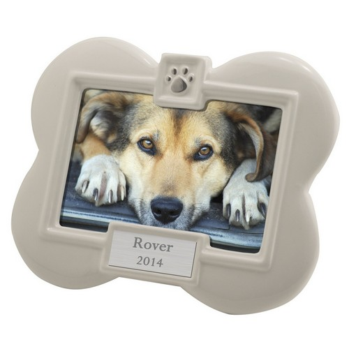 Ceramic Dog Bone Personalized 3x5 Photo Frame