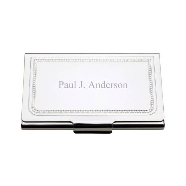charleston personalized business card holder - Engraved Business Card Holder