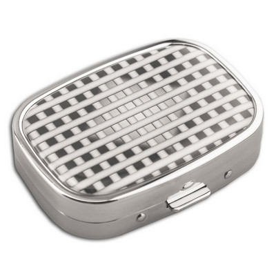 Checker Pattern Engraved Pill Box
