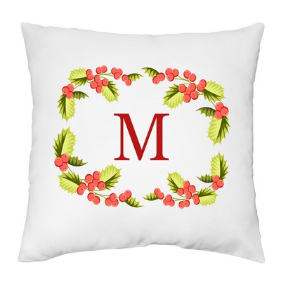 Christmas Wreath Personalized Pillow Case