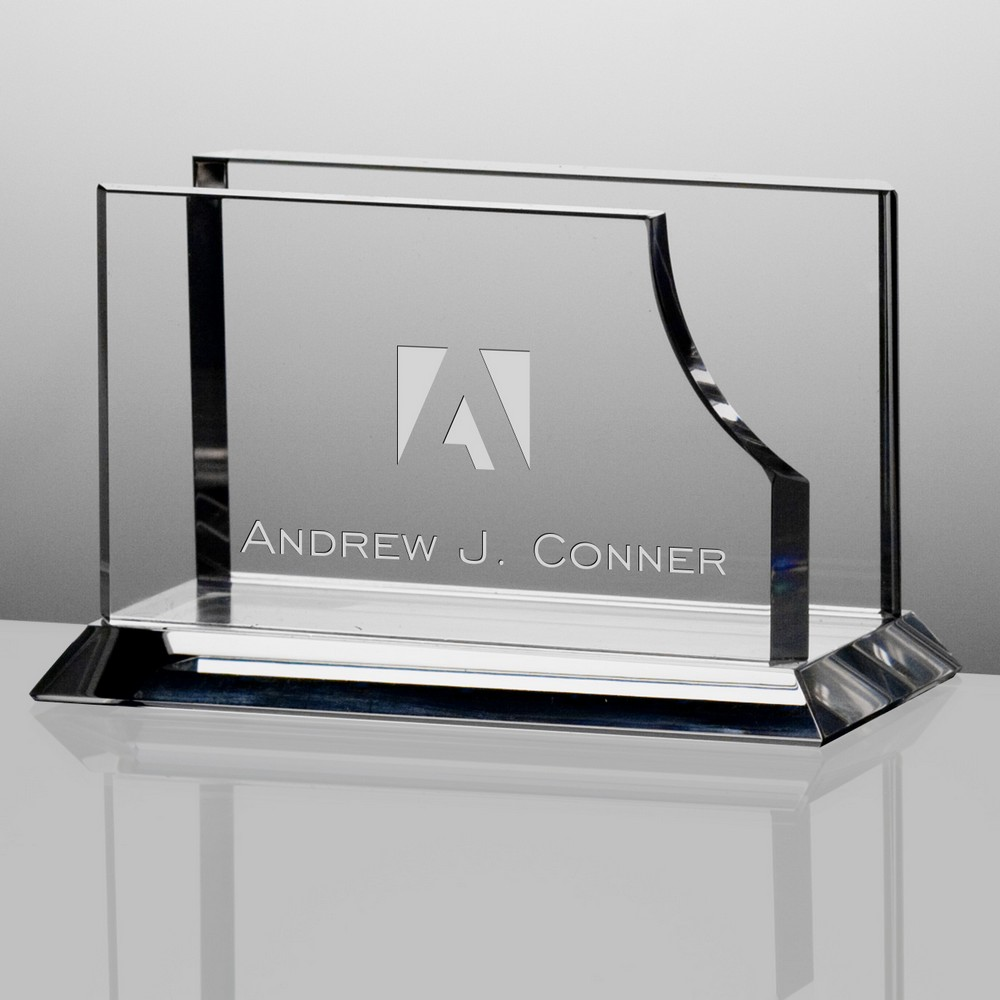 Corporate crystal desk business card holder colourmoves