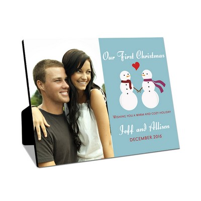 Couples First Christmas Snowmen Photo Panel