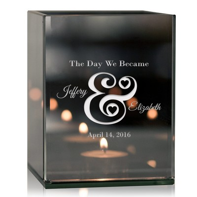 Couples Together Personalized Tea Light Candle Holder