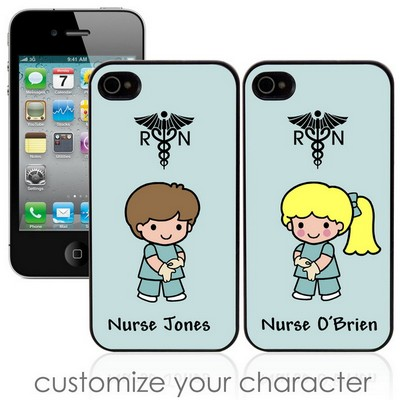 Custom Character Nurse Personalized iPhone Case