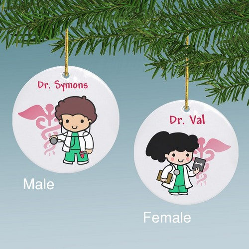 Custom Doctor Character Personalized Ceramic Ornament