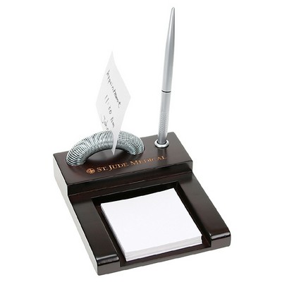 Curving Spiral Memo Holder with Pen