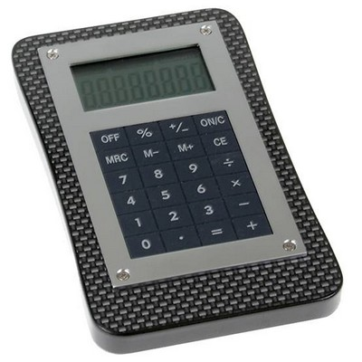 Unique Wooden Calculator with Black Carbon Fiber Finish