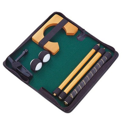 Personalized Golf Putter Set in Black Case