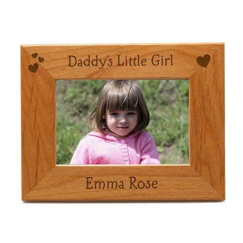Daddys Little Girl Personalized 4x6 Picture Frame