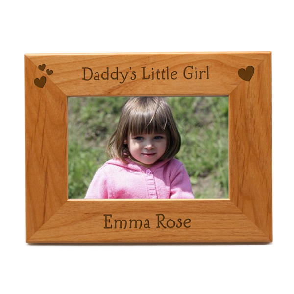 Daddys Little Girl Personalized 4x6 Picture Frame | Engraved Father ...