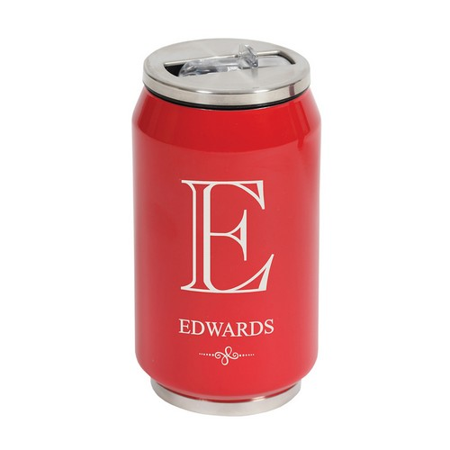 Double Wall Insulated Hot Cold Red Beverage Can
