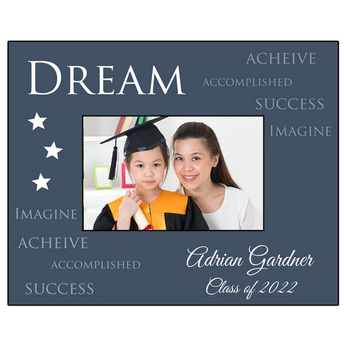Dream Big Personalized Photo Frame for Graduates