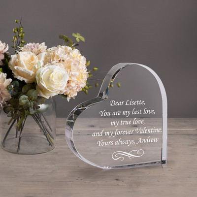 Elegant Crystal Keepsake Heart