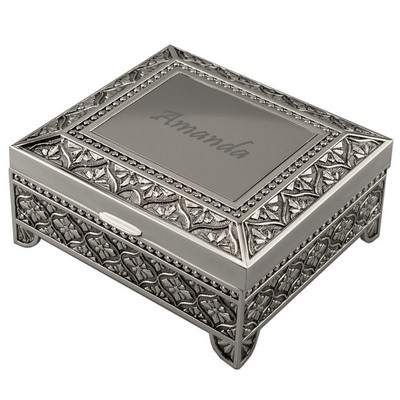 Emblematic Personalized Silver Jewelry Case