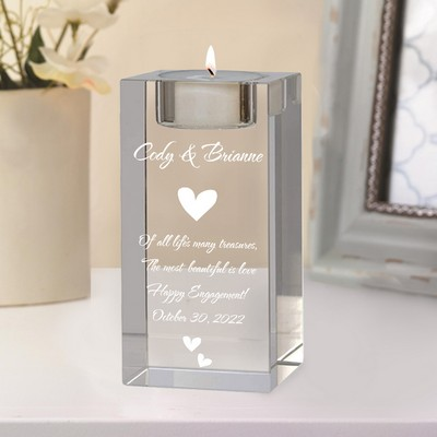 Engagement Keepsake Tealight Candle Holder