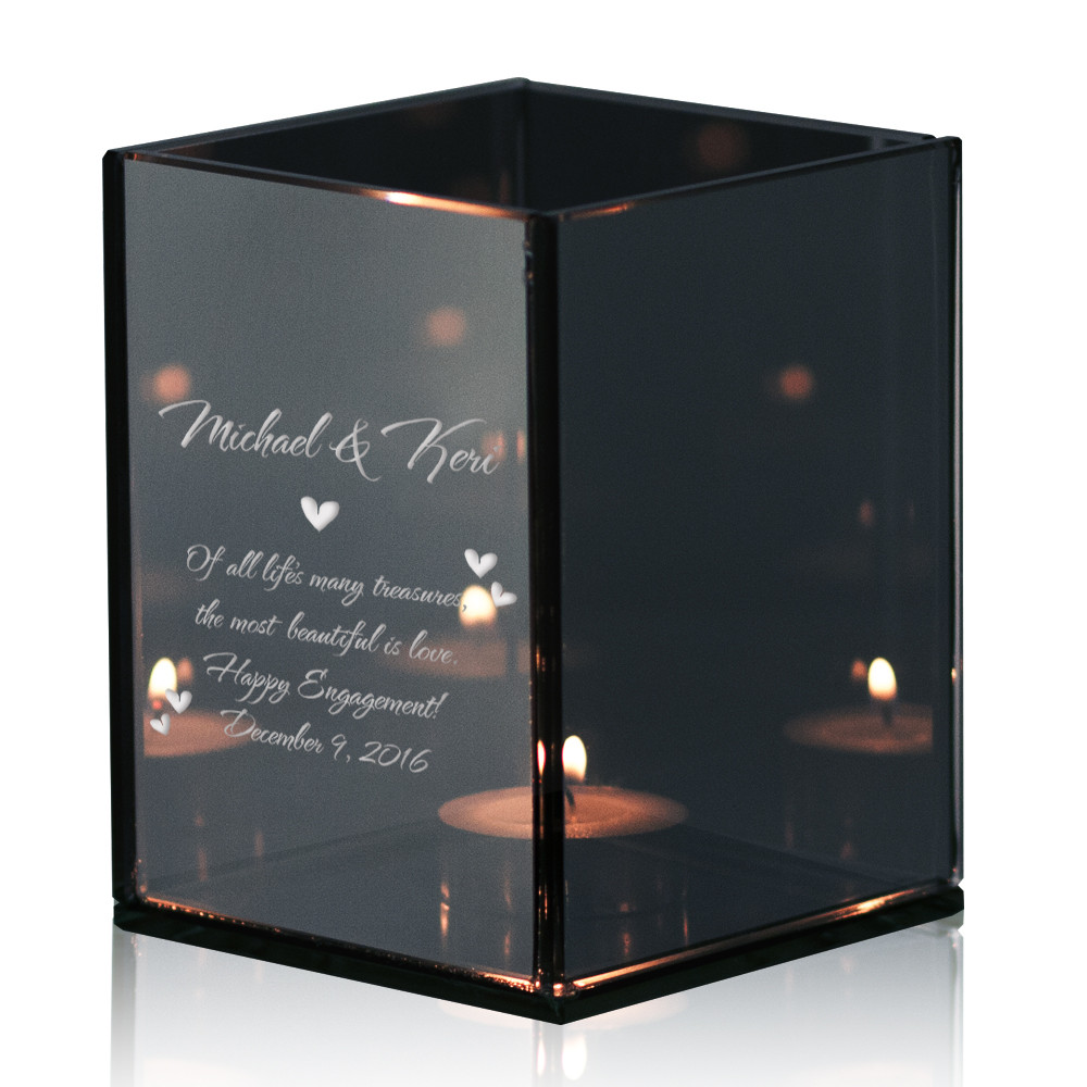 Engagement Keepsake Tealight Candle Holder