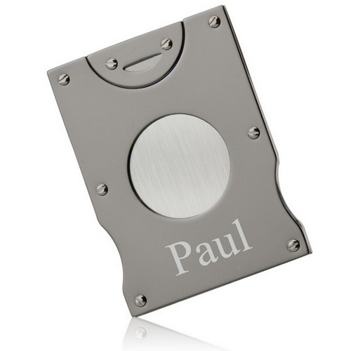 Engraved Gunmetal Cigar Cutter