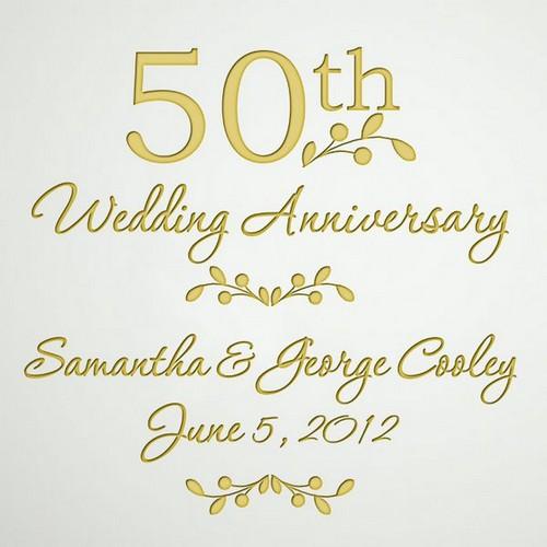Hy Golden Wedding Anniversary Ideas 2018