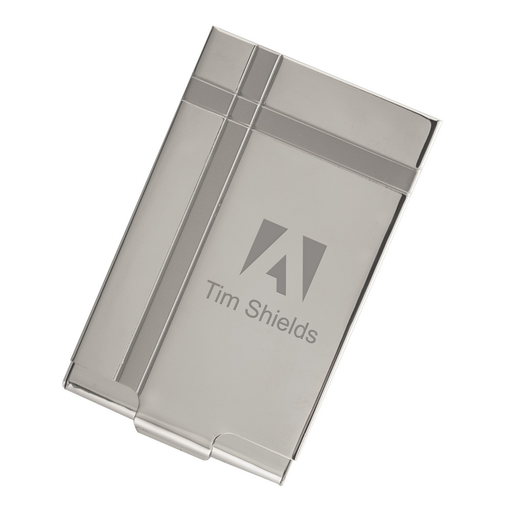 executive silver metal business card case - Metal Business Card Case