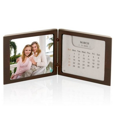 Handsome Rosewood Photo Frame and Calendar