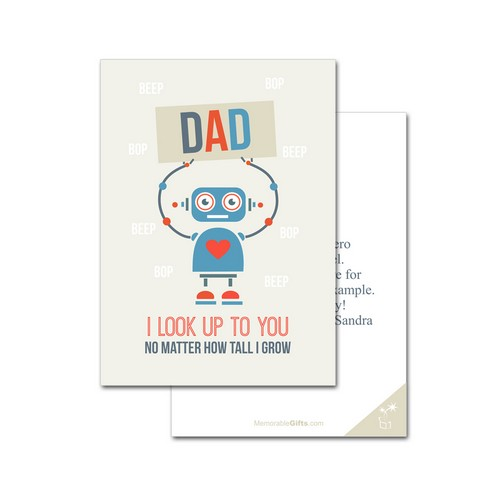 Robot Father's Day Card