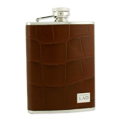 Stainless Steel Crocodile Leather Flask