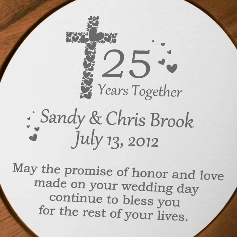 and personalized 25th anniversary plate