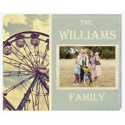 Family Adventure Personalized Photo Wall Canvas