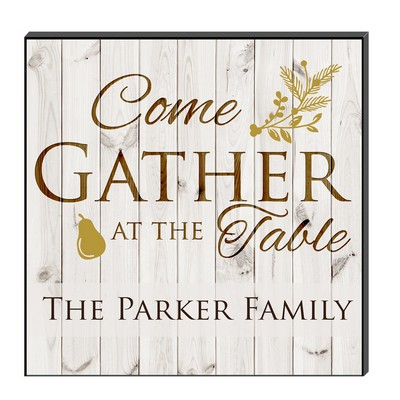 Family Gathering Personalized Wall Art Panel