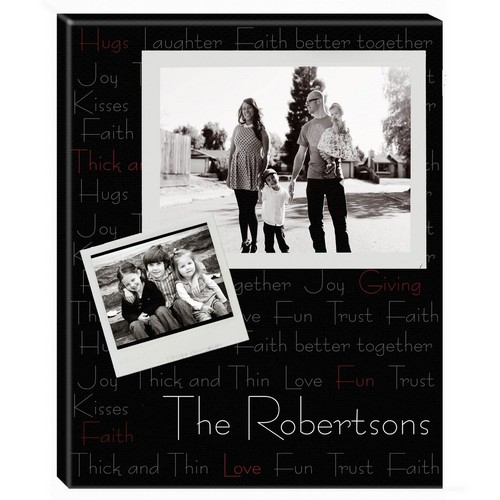 Family Sentiments Personalized Photo Wall Canvas