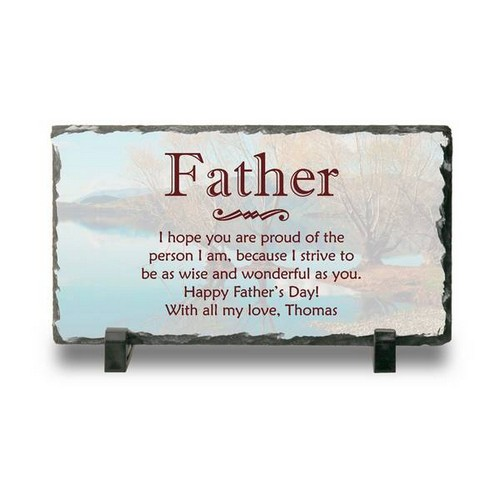 Personalized Slate Desk Plaque for Dad