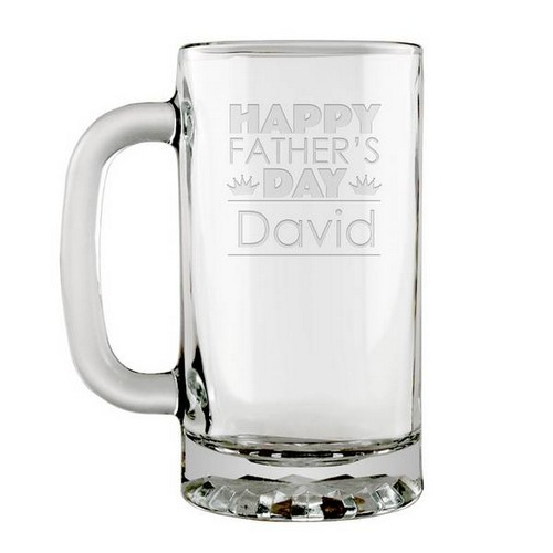 Fathers Day Personalized Glass Beer Mug