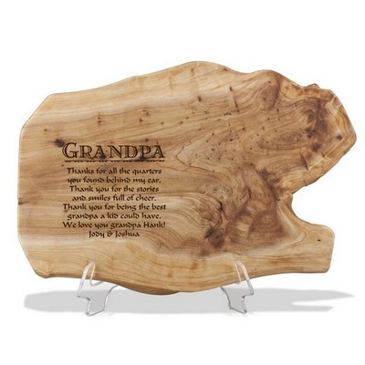 Fir Wood Personalized Plaque for Grandpa