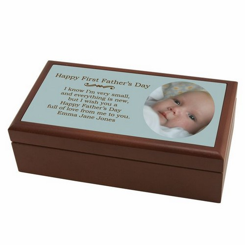 First Fathers Day Photo Keepsake Box
