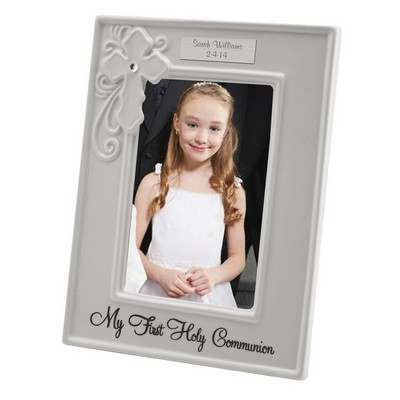 First Holy Communion Personalized 4x6 Keepsake Frame