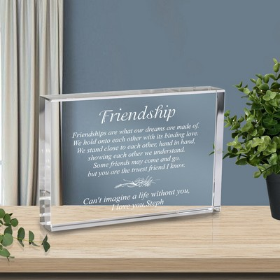 Friendship Plaque in Crystal Plaque