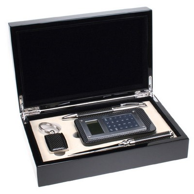 Executive Carbon Fiber Look Business Gift Set