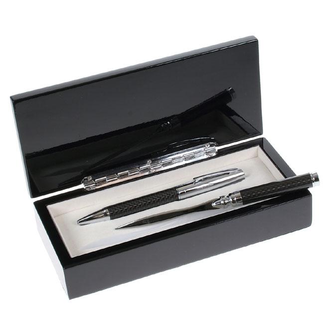 Carbon Fiber Pen And Letter Opener Gift Set