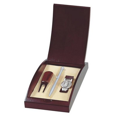 Elegant Golfers Pen Money Clip and Divot Gift Set