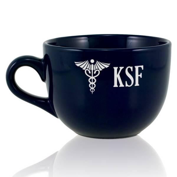 Personalized Navy Blue Medical Jumbo Mug