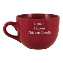 Personalized Red Jumbo Mug