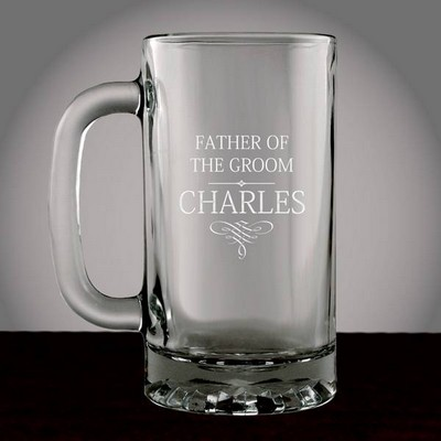 Personalized Wedding Party Glass Beer Mug