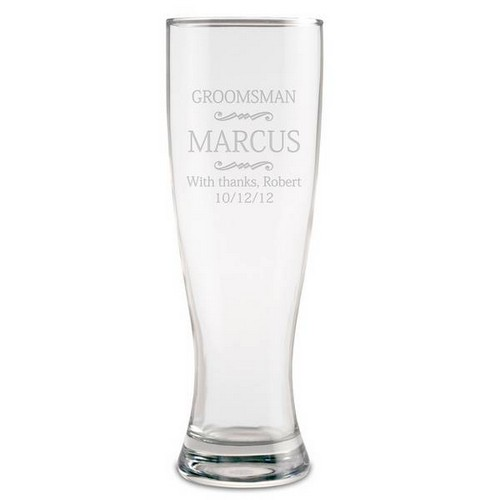 Personalized Groomsmen Beer Glass