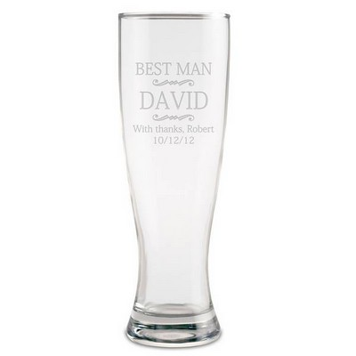 Personalized Best Man Beer Glass